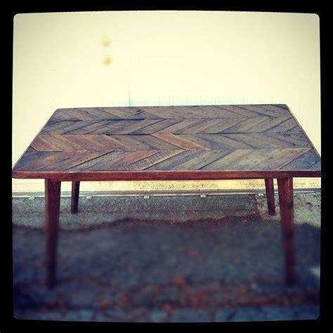 custom herringbone dining table  js reclaimed wood