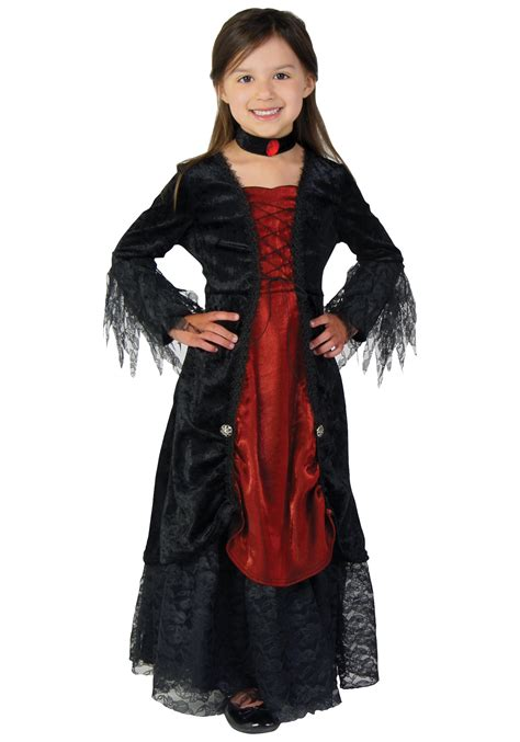 Vampiress Queen Girls Halloween Costume dress Medieval Vampire Child Gothic new | eBay