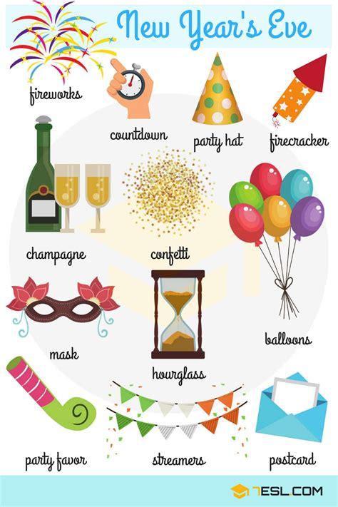 happy  year  year vocabulary words esl
