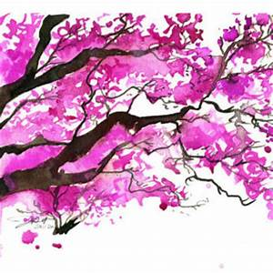 Watercolor Japanese Cherry Blossom Tree from Jessica ...