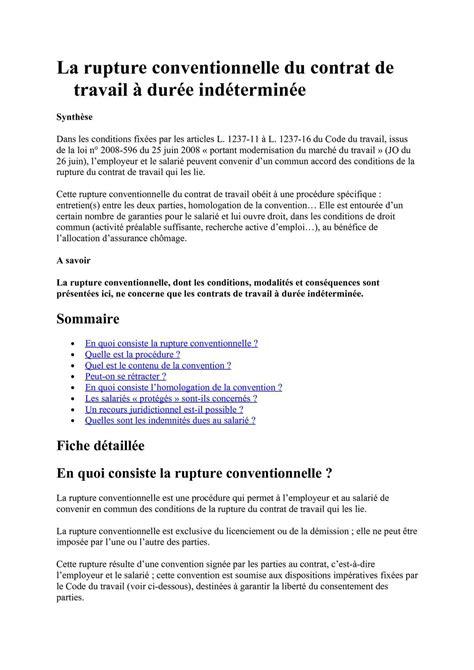 Modification Contrat De Travail Fusion by Calam 233 O La Rupture Conventionnelle Cdi