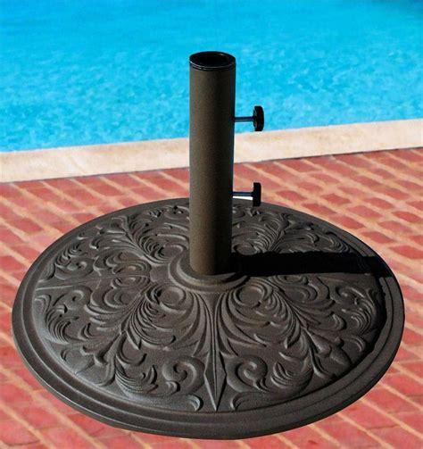 patio umbrella base cast iron 50lb