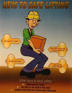 Funny Safe Lifting Safety Poster