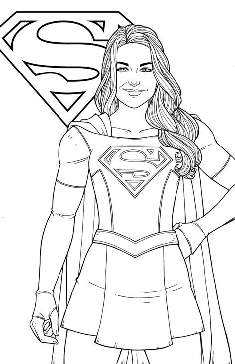printable supergirl coloring pages logo   woman   superhero coloring