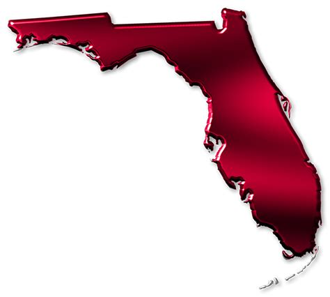florida abstract style maps  high gloss red metallic