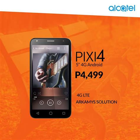 alcatel pixi 4 5 lte with arkamys audio now in the philippines priced at php 4499