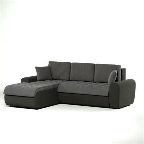 canapé d angle carré cloe canapé d 39 angle gauche convertible en simili et tissu