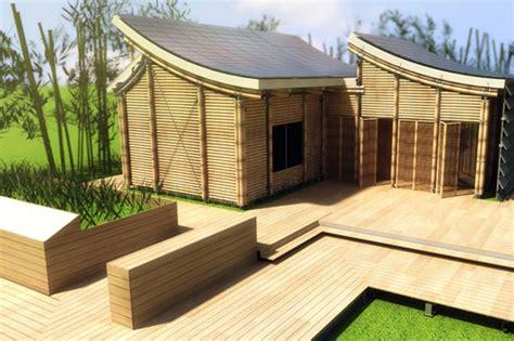 contoh gambar desain rumah bambu unik desain minimalis
