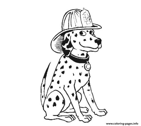 dalmatian fire dog sfa coloring pages printable