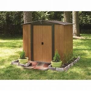 CHALET & JARDIN Abri de jardin 3m² en métal WL65 Marron Achat / Vente abri jardin chalet