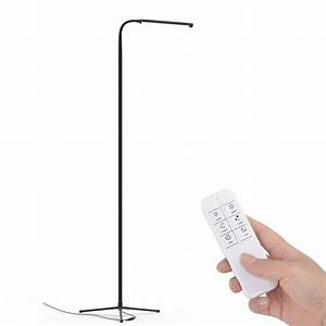 F9 modern touch led standing floor lamp reading for living for Floor lamp with touch control