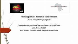 Financing Africa's Economic Transformation: Policy Issues ...