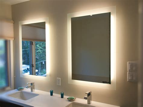 lighted bathroom mirror canada lighted mirror lumidesign