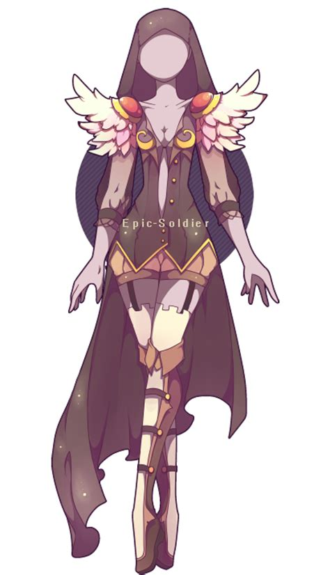 Epic Anime Girl Names Outfit Adoptable 27 Open By Epic Soldier Deviantart Com