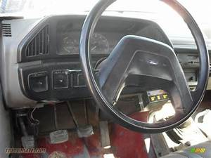 1988 Ford F350 Xl Regular Cab Dump Truck In Red Photo  8