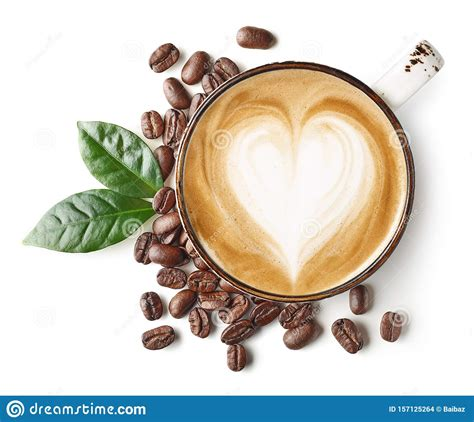 Support the milk jug against the edge of your cup and make sure that a fine, steady stream of milk comes out of the jug. Coffee Latte Or Cappuccino Art With Heart Shape Stock Photo - Image of brown, latte: 157125264