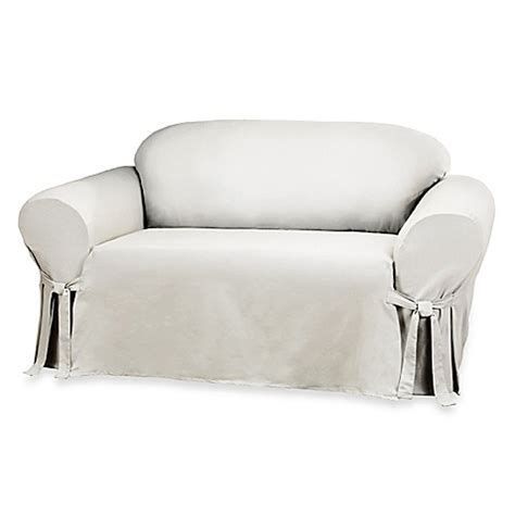 Cotton Loveseat Slipcover by Sure Fit 174 Duck Supreme Cotton Loveseat Slipcover In White