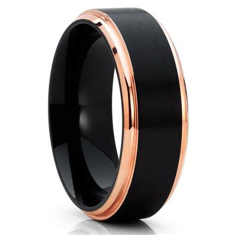 black titanium ring titanium wedding band mens
