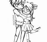 Kissing Anime Couple Drawing Coloring Pages Drawings Couples Clipartmag Colouring sketch template