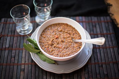 minestra  lenticchie ricetta vegetariana agrodolce