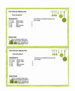 word recipe template 6 free word documents download With template for recipes in word