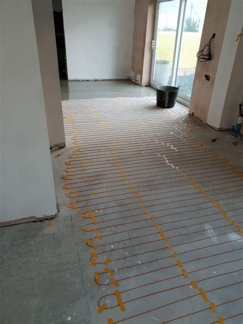 installing underfloor heating cable underfloor heating hq