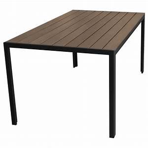 Gartentisch Non Wood : aluminium gartentisch 150x90cm mit polywood non wood tischplatte brown grey balkonm bel ~ Eleganceandgraceweddings.com Haus und Dekorationen