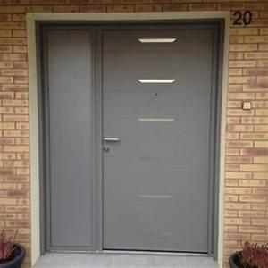 porte d39entree alu kline a 2 vantaux tierces With porte d entrée 2 vantaux