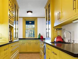 yellow paint for kitchens pictures ideas tips from With kitchen colors with white cabinets with yellow metal wall art