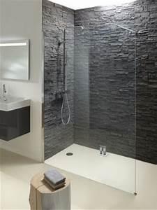 Grande Ardoise Murale : une douche parement effet troglodyte maisonapart ~ Preciouscoupons.com Idées de Décoration