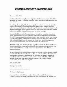 recommendation letter for student from teacher template - high school recommendation letter for college