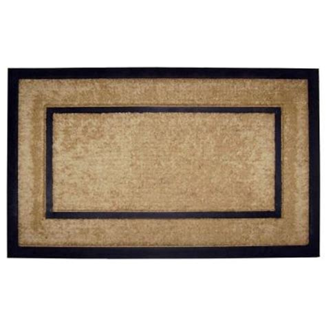 Doormat Frame by Creative Accents Dirtbuster Single Picture Frame Black 22