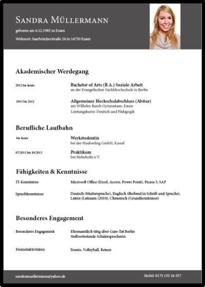 Der Perfekte Lebenslauf by 29 Undergraduate Der Perfekte Lebenslauf For Fresh