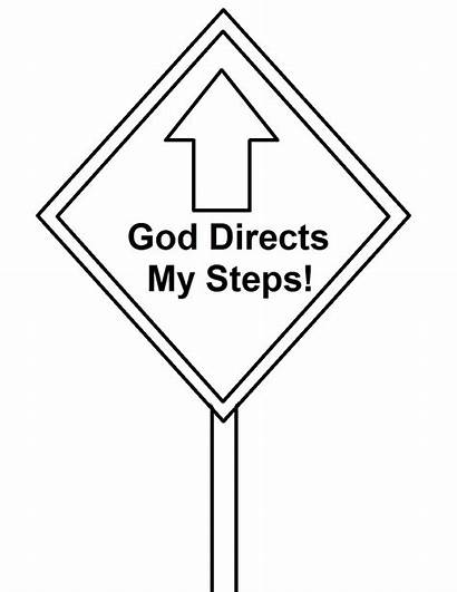 Coloring Signs God Road Sign Steps Lesson