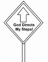 Coloring Signs Road God Sign Lesson Steps Directs Clipart Street Gods Sunday Church Collection sketch template