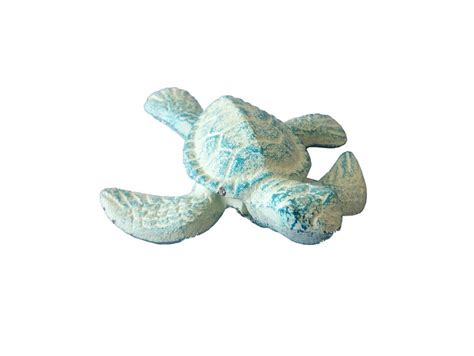 Turtle Decorations by Buy Light Blue Cast Iron Sea Turtle 4 Inch Wholesale Sea