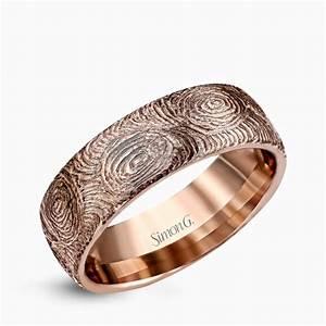 Rose Gold Wedding Rings Mens Wedding Promise Diamond