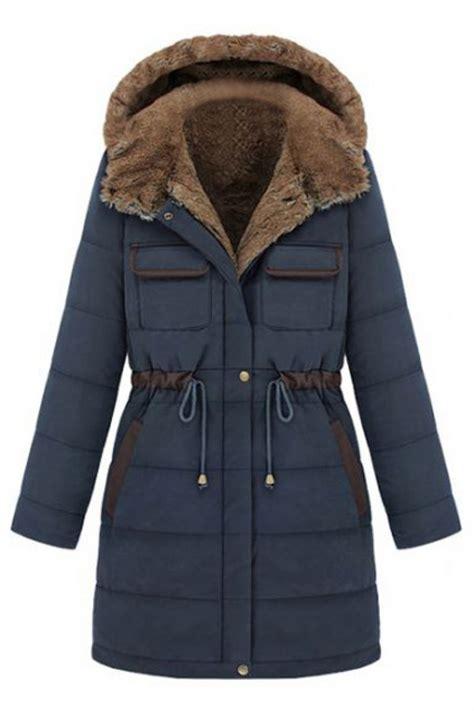 abadaycom style   hooded winter coat fashion blue coats