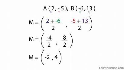 Segment Line Midpoint Equation Examples Geometry