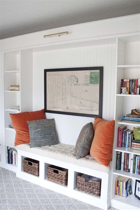 for tv over fireplace office makeover reveal ikea hack built in billy
