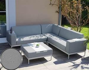 Garten Lounge Sofa : alu garten garnitur hwc c47 sofa lounge set textil outdoor wasserabweisend ebay ~ Markanthonyermac.com Haus und Dekorationen
