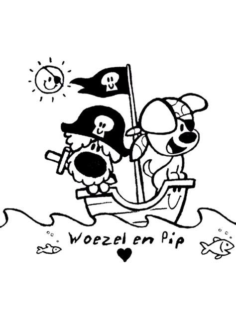 Kleurplaat 1 Jaar Woesel En Pip by Woezel En Pip Zwart Wit Voor Kleding Kleurplaten