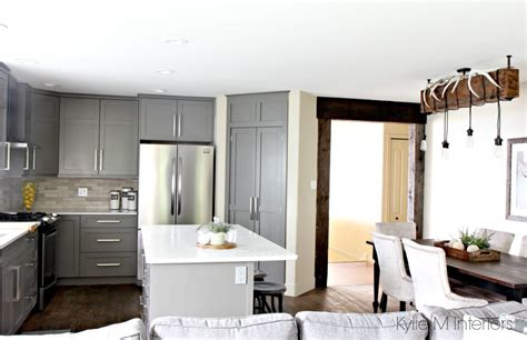 gray painted kitchen cabinets the 3 best gray and greige colours for cabinets and vanities 3933
