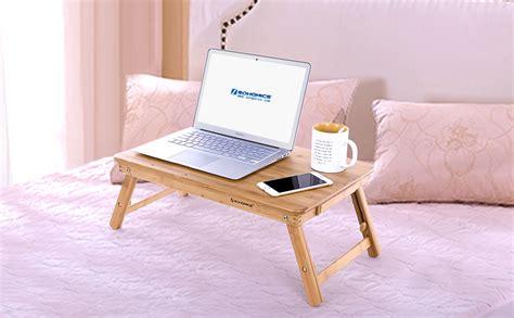 Amazon.com: SONGMICS Bamboo Laptop Desk Adjustable