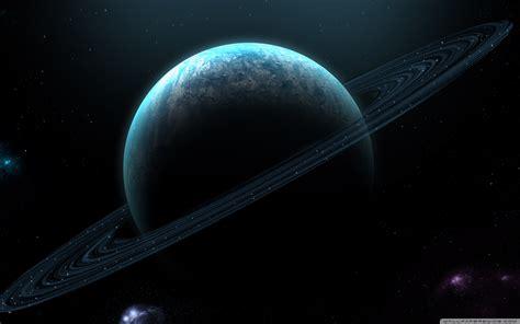 blue planet  rings  hd desktop wallpaper