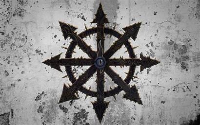 Chaos Warhammer Symbol Wallpapers Tzeentch Background Stars