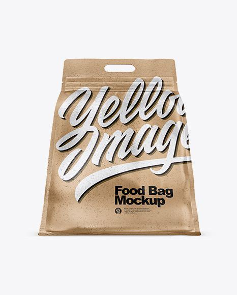 Free pulses kraft paper pouch packaging mockup psd. Free Kraft Paper Stand-up Food Bag Mockup - Hero Shot ...