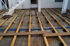 pose terrasse bois sur beton myqtocom With pose terrasse bois sur beton