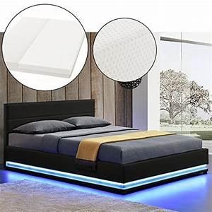 Moderne Betten Mit Led : polsterbett toulouse 140 x 200 cm schwarz mit lattenrost kaltschaummatratze m bel24 ~ Bigdaddyawards.com Haus und Dekorationen