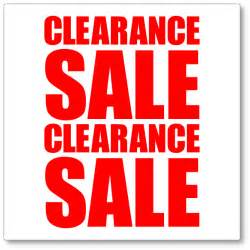 Clearance Sale Signs